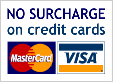 No surcharge on credit card payments